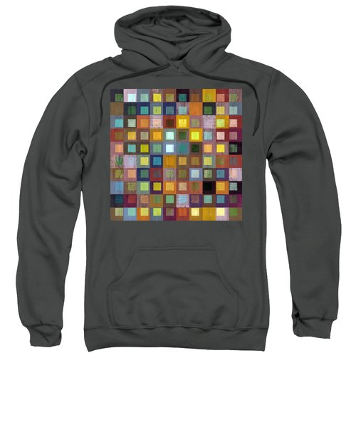 Sweatshirt featuring the digital art Squares In Squares One by Michelle Calkins