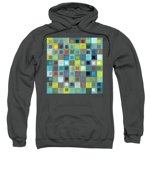 Sweatshirt featuring the digital art Squares In Squares Two by Michelle Calkins