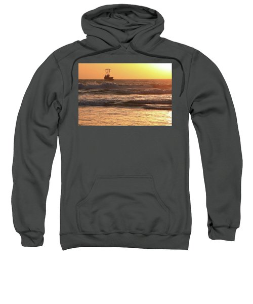 Squid Boat Golden Sunset Sweatshirt