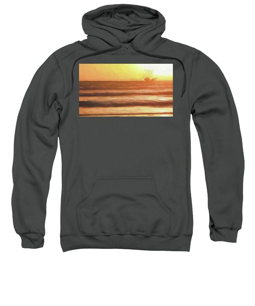 Squid Boat Sunset Sweatshirt