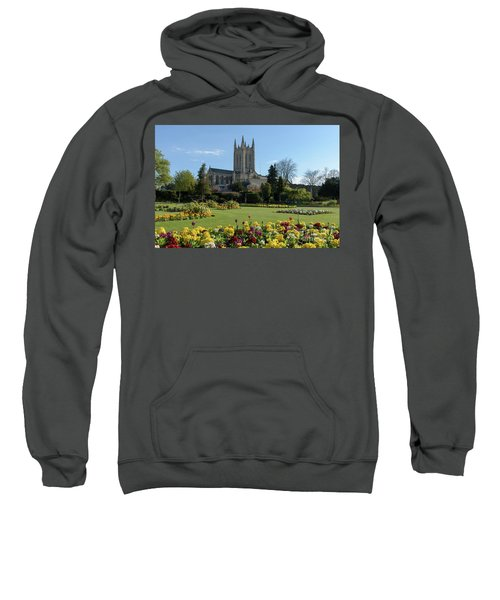 St Edmundsbury Cathedral With Flowers In Foreground Sweatshirt