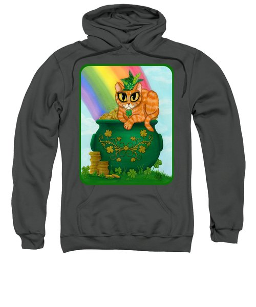 St. Paddy's Day Cat - Orange Tabby Sweatshirt