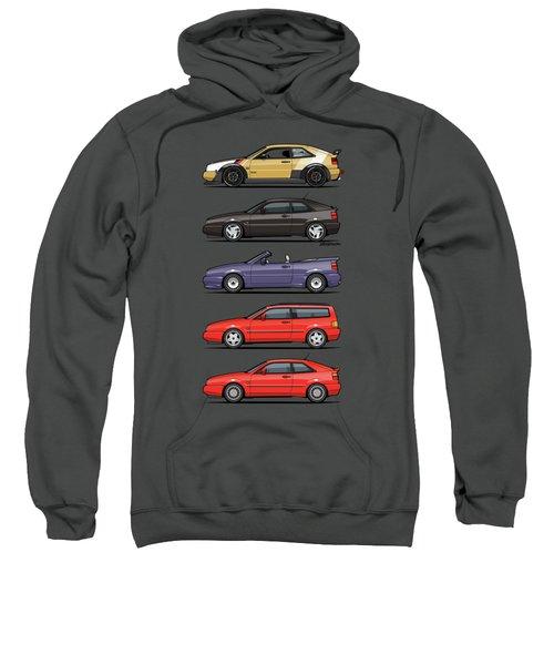 Stack Of Vw Corrados Sweatshirt