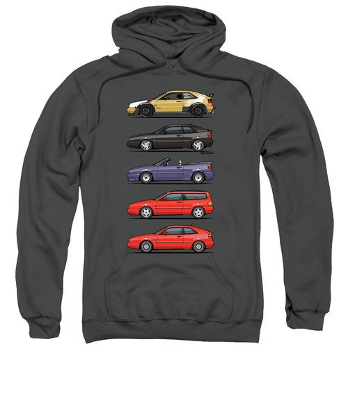 Stack Of Vw Corrados Sweatshirt