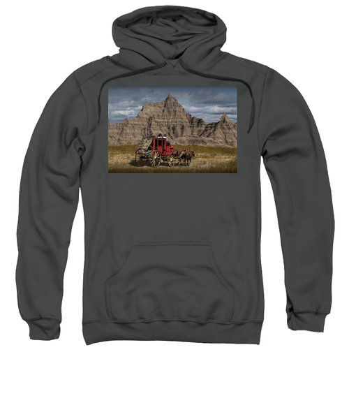 Stage Coach In The Badlands Sweatshirt