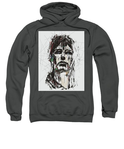 Staggered Abstract Portrait Sweatshirt