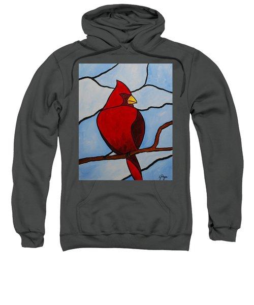 Stained Glass Cardinal Sweatshirt
