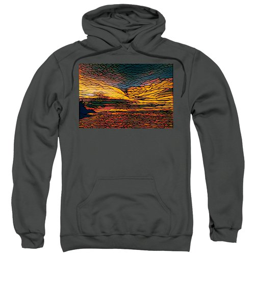 Stained Glass Sunset Sweatshirt