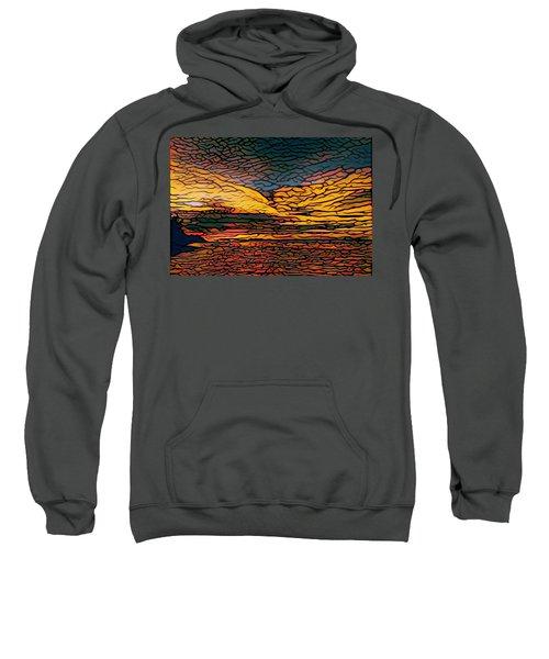 Stained Glass Sunset Sweatshirt