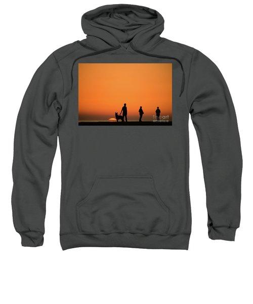 Standing At Sunset Sweatshirt