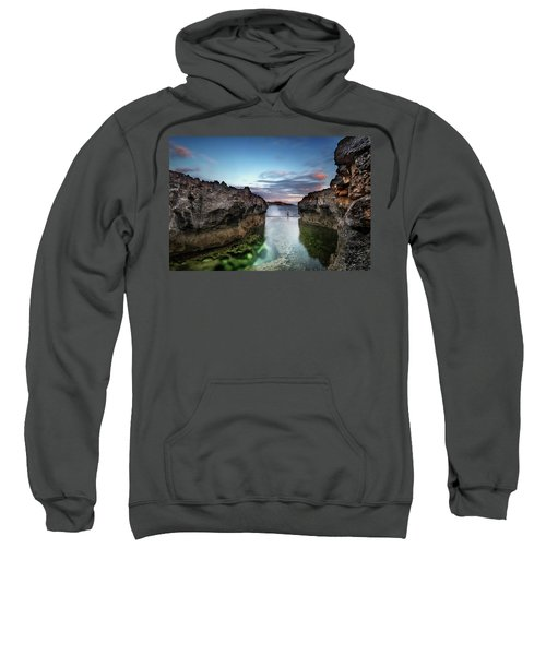 Standing At The Tip Of Sea Sweatshirt