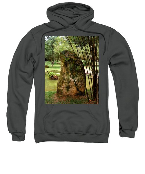 Standing Stone With Fern And Bamboo 19a Sweatshirt