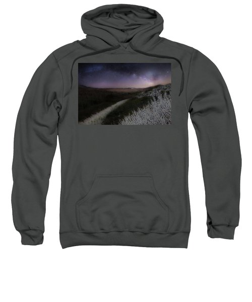 Sweatshirt featuring the photograph Star Flowers by Bill Wakeley