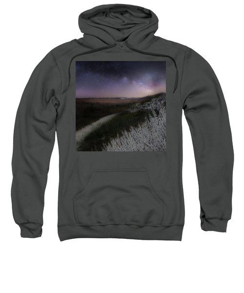 Sweatshirt featuring the photograph Star Flowers Square by Bill Wakeley