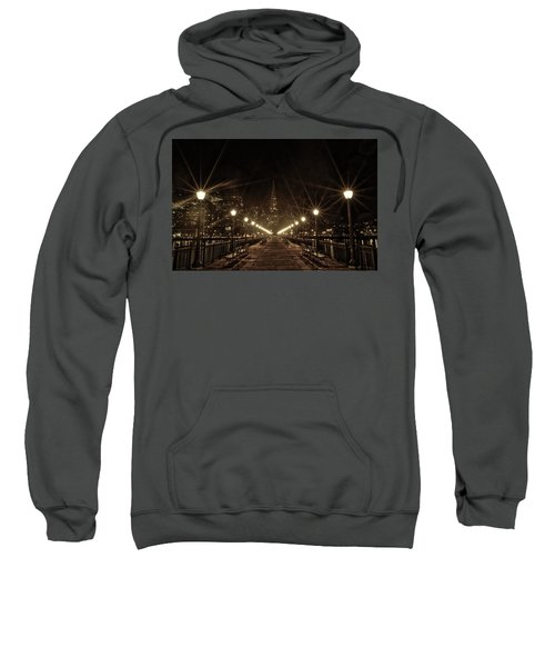 Sweatshirt featuring the photograph Starburst Lights by Chris Cousins