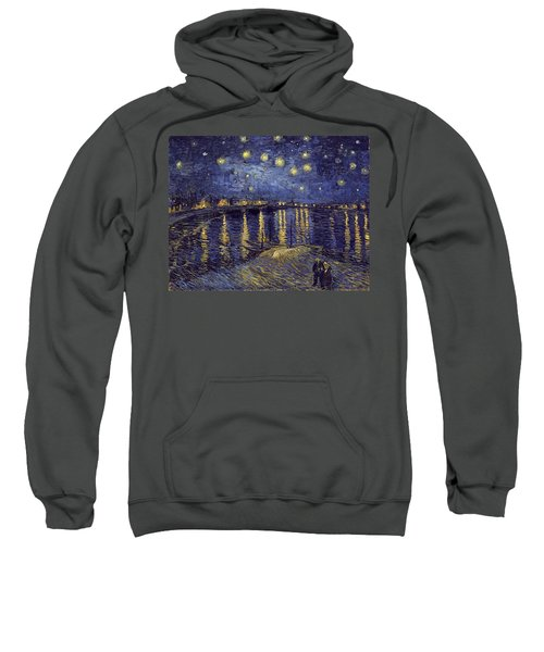 Sweatshirt featuring the painting Starry Night Over The Rhone by Van Gogh