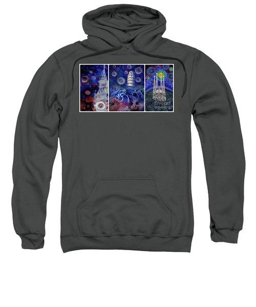 Starry Night Worldwide Triptych Sweatshirt