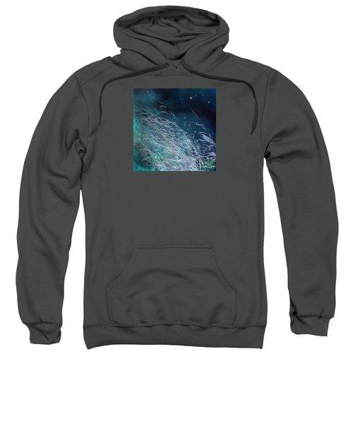 Sweatshirt featuring the photograph Starry Sky Grass by Yulia Kazansky