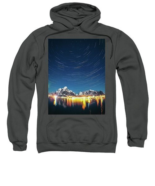 Startrails Above Reine Sweatshirt