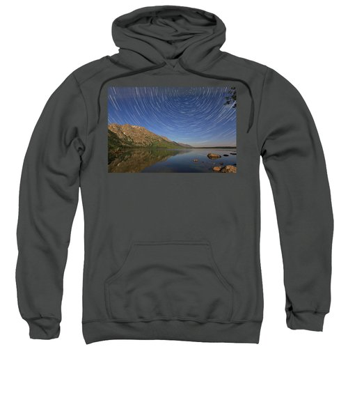 Startrails Over Jenny Lake Sweatshirt