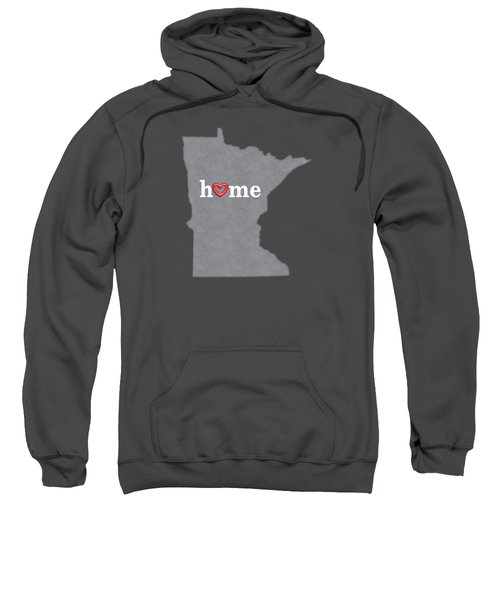 State Map Outline Minnesota With Heart In Home Sweatshirt