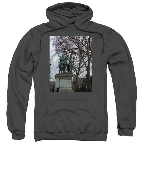 Statue At Notre Dame Sweatshirt by Roxy Rich