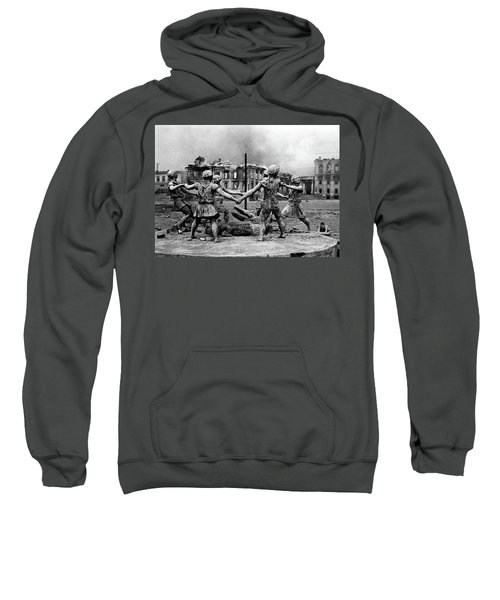 Statue Of Children After Nazi Airstrikes Center Of Stalingrad 1942 Sweatshirt