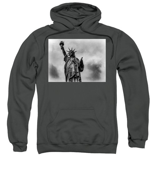 Statue Of Liberty Photograph Sweatshirt