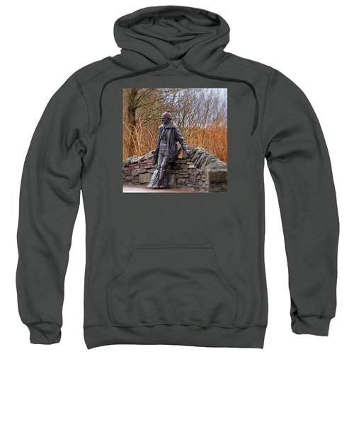 Sweatshirt featuring the photograph Statue Of Tom Weir by Jeremy Lavender Photography