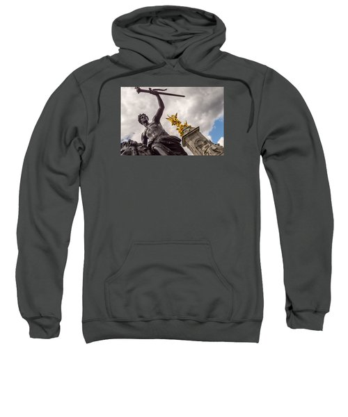 Statues In Front Of Buckingham Palace Sweatshirt