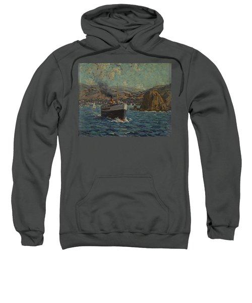 Steamer Leaving Avalon. Catalina Island Sweatshirt
