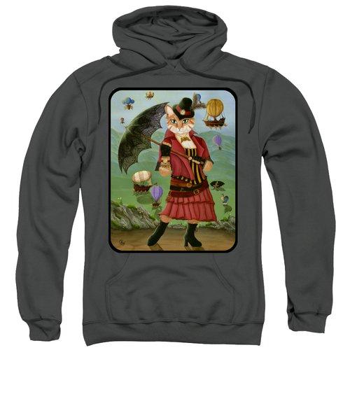 Steampunk Cat Gal - Victorian Cat Sweatshirt