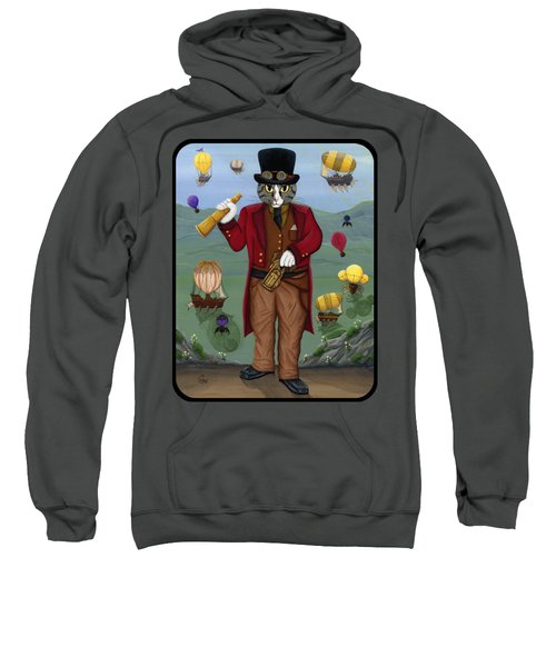 Steampunk Cat Guy - Victorian Cat Sweatshirt