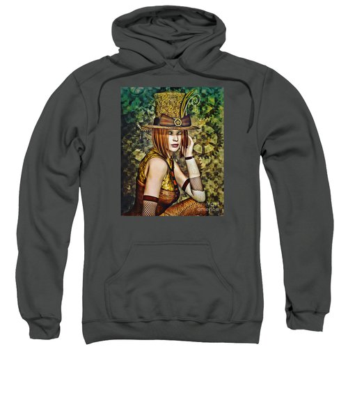 Steampunk Girl Two Sweatshirt