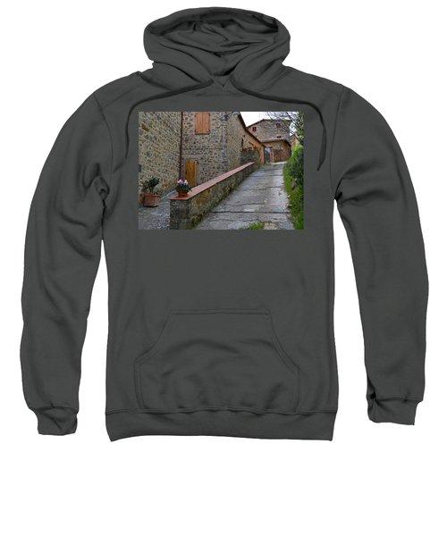 Steep Street In Montalcino Italy Sweatshirt