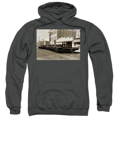 Stegmaier Brothers Inc Beer Trucks At 693 Hazle Ave Wilkes Barre Pa 1930s Sweatshirt