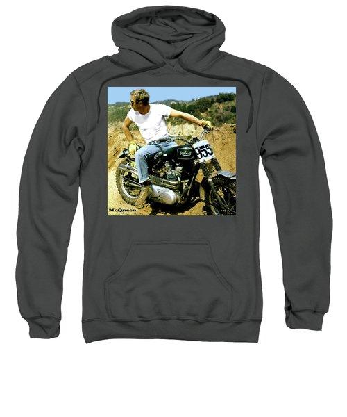 Steve Mcqueen, Triumph Motorcycle, On Any Sunday Sweatshirt