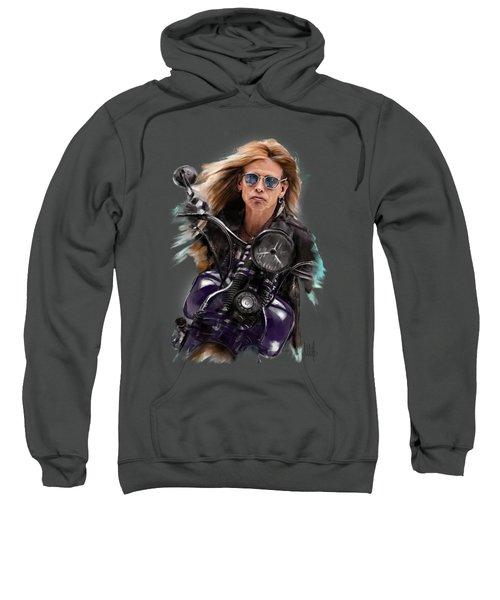 Steven Tyler On A Bike Sweatshirt