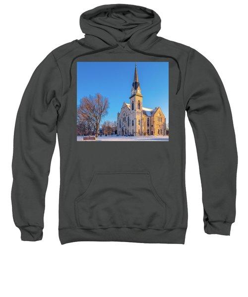Stone Chapel In Winter Sweatshirt