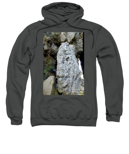 Sweatshirt featuring the photograph Stone Over Time by Francesca Mackenney