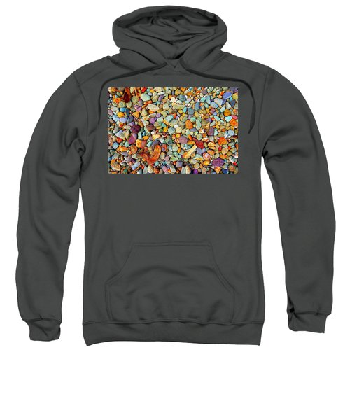 Stones And Barks On Beach Sweatshirt