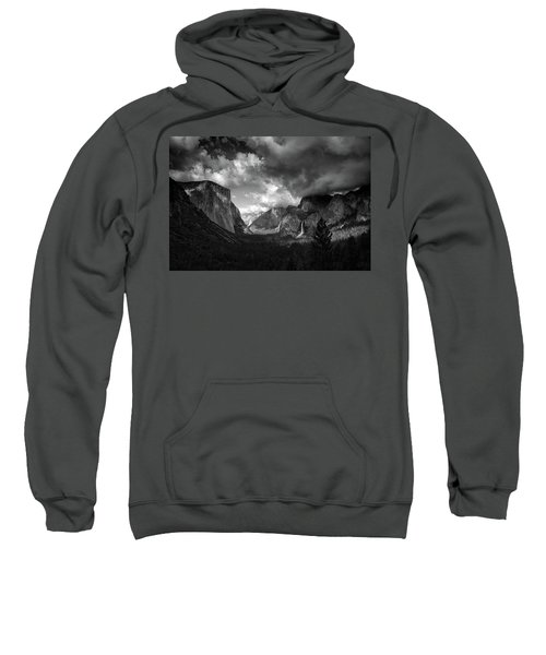 Storm Arrives In The Yosemite Valley Sweatshirt