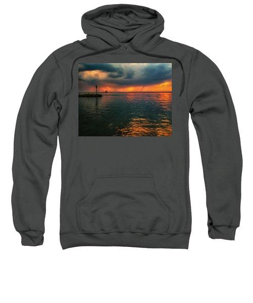 Storm In Lorain Ohio At The Lighthouse Sweatshirt
