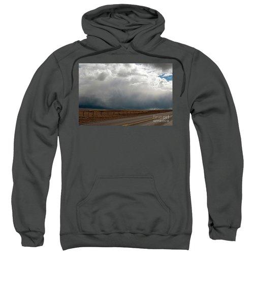 Storm On Route 287 N Of Ennis Mt Sweatshirt