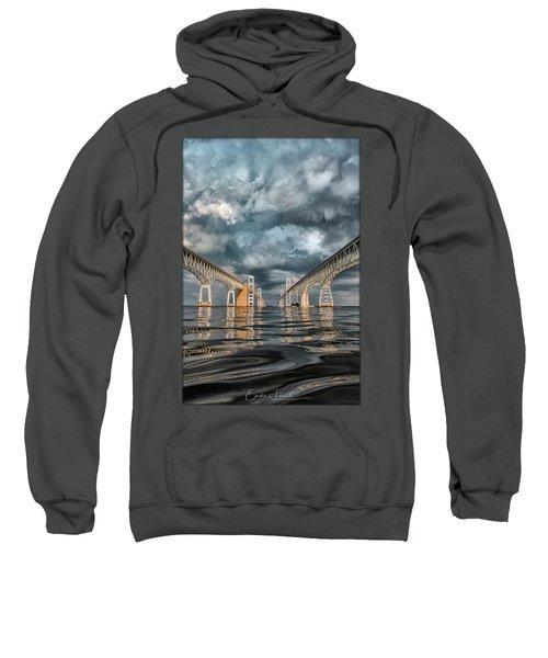 Stormy Chesapeake Bay Bridge Sweatshirt