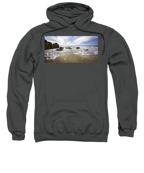 Stormy Maine Morning #1 Sweatshirt