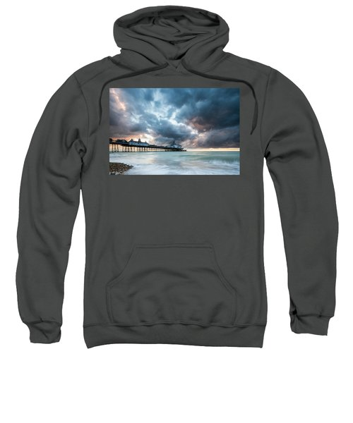 Stormy Sunrise Over Eastbourne Pier Sweatshirt