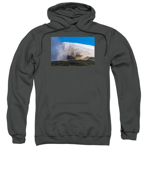 Sweatshirt featuring the photograph Storr In Cloud by Gary Eason