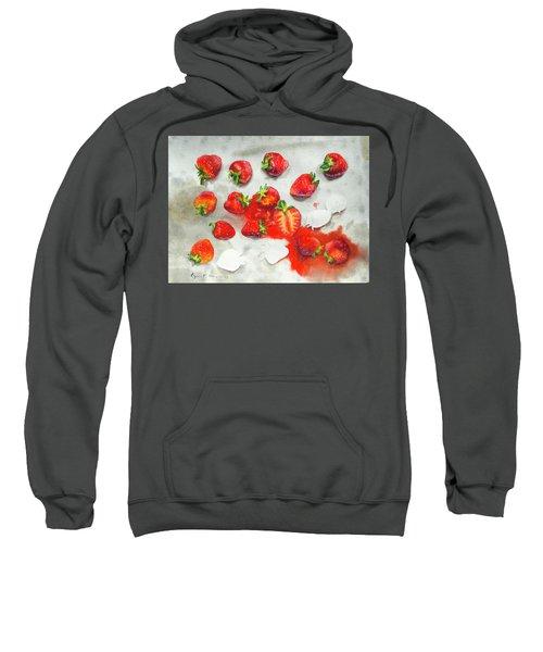 Strawberries On Paper Towel Sweatshirt
