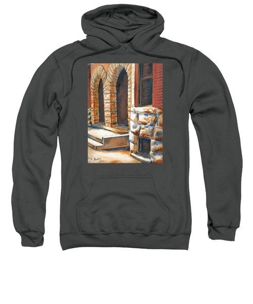 Street Scene Oil Painting Sweatshirt